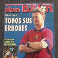 Coleccionismo deportivo: DON BALÓN 1204 - PÓSTER TENERIFE - CELTA VIGO - BARCELONA - TURU FLORES - EDMUNDO - COPAS EUROPEAS. Lote 136276234