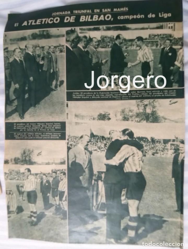 ATH. BILBAO. CAMPEÓN DE LIGA 1942-1943. HOJA DE REVISTA (Coleccionismo Deportivo - Revistas y Periódicos - Marca)