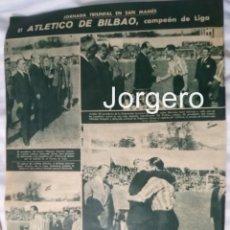Coleccionismo deportivo: ATH. BILBAO. CAMPEÓN DE LIGA 1942-1943. HOJA DE REVISTA. Lote 136279142