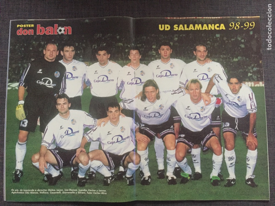 Coleccionismo deportivo: Don balón 1223 - Póster Salamanca - Rivaldo - Cañizares - Atlético - Betis - Copas Europeas - Foto 2 - 136284320