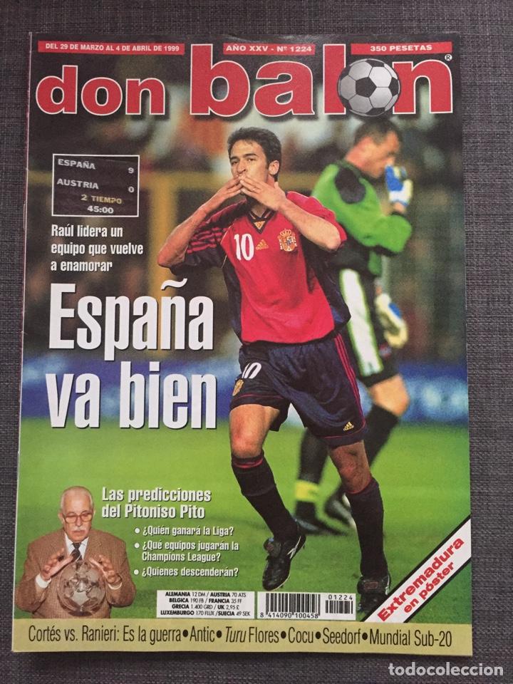DON BALÓN 1224 - ESPAÑA VS AUSTRIA 9-0 - PÓSTER EXTREMADURA - VALENCIA - ATLÉTICO - BARCELONA - WEAH (Coleccionismo Deportivo - Revistas y Periódicos - Don Balón)