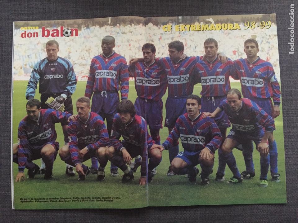 Coleccionismo deportivo: Don balón 1224 - España vs Austria 9-0 - Póster Extremadura - Valencia - Atlético - Barcelona - Weah - Foto 2 - 136285976