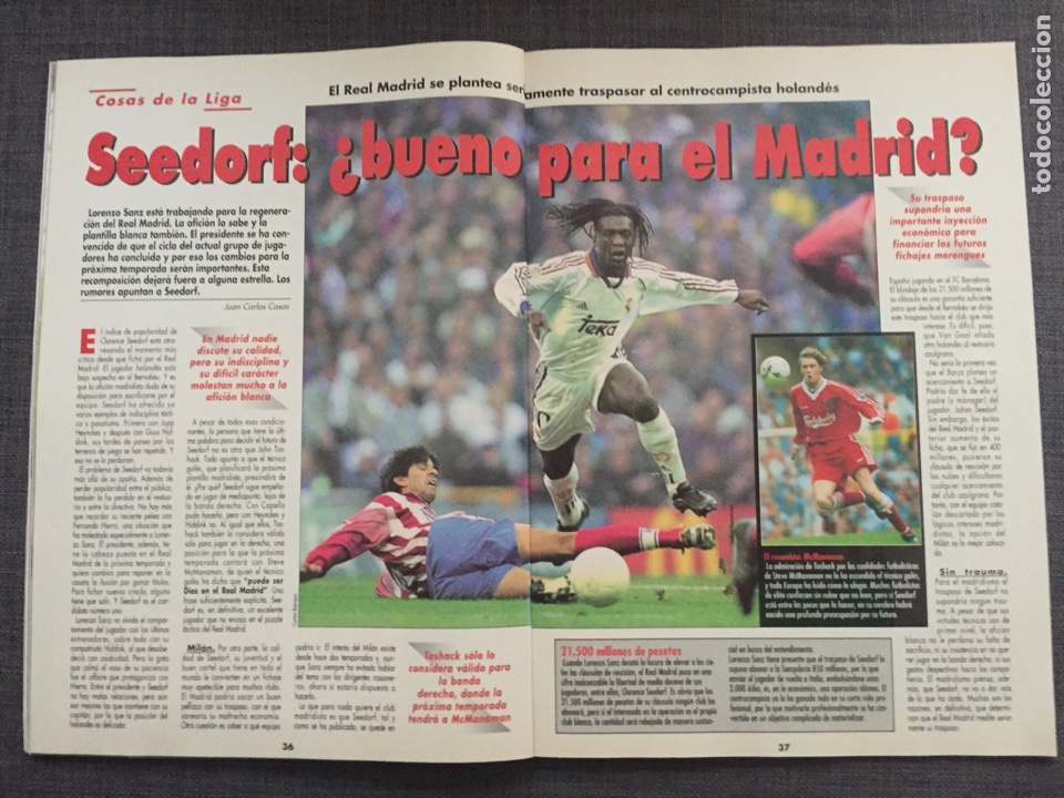 Coleccionismo deportivo: Don balón 1224 - España vs Austria 9-0 - Póster Extremadura - Valencia - Atlético - Barcelona - Weah - Foto 5 - 136285976
