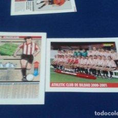Coleccionismo deportivo: MINI POSTER + FICHA MUNDO DEPORTIVO 2000/2001 ( ATHLETIC CLUB DE BILBAO ) NUEVO. Lote 136372494
