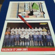 Coleccionismo deportivo: MINI POSTER + FICHA MUNDO DEPORTIVO 2000/2001 ( VALENCIA C.F. ) NUEVO . Lote 136373026