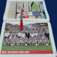 Coleccionismo deportivo: MINI POSTER + FICHA MUNDO DEPORTIVO 2000/2001 ( REAL SOCIEDAD ) NUEVO . Lote 136373294