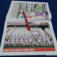 Coleccionismo deportivo: MINI POSTER + FICHA MUNDO DEPORTIVO 2000/2001 ( REAL VALLADOLID ) NUEVO . Lote 136373538