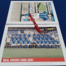 Colecionismo desportivo: MINI POSTER + FICHA MUNDO DEPORTIVO 2000/2001 ( REAL OVIEDO ) NUEVO . Lote 136373814