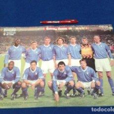 Coleccionismo deportivo: POSTER DOBLE PAGINA DON BALON ( OVIEDO ) TEMPORARA 1999/ 2000 . Lote 136414018