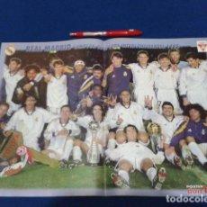 Coleccionismo deportivo: POSTER DOBLE PAGINA DON BALON ( REAL MADRID ) CAMPEON DE LA COPA INTERCONTINENTAL 1998. Lote 136417210