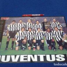Coleccionismo deportivo: POSTER DOBLE PAGINA DON BALON ( JUVENTUS ) TEMPORADA 2000/ 01. Lote 136419778