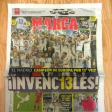 Coleccionismo deportivo: PERIODICO MARCA REAL MADRID CAMPEON COPA EUROPA UEFA CHAMPIONS LEAGUE 2017 2018 LIVERPOOL. Lote 136635366