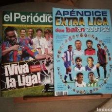 Coleccionismo deportivo: DON BALON EXTRA LIGA Y APÉNDICE EXTRA LIGA 2001 2002. Lote 136764753