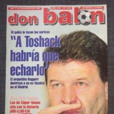 Coleccionismo deportivo: DON BALÓN 1231 - ESPECIAL FINAL RECOPA MALLORCA - PÓSTER PARMA - ABELARDO - FINAL UEFA - GINOLA. Lote 136850121