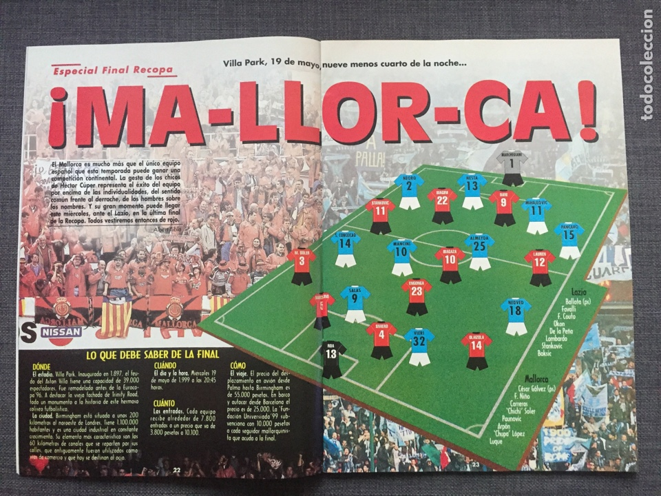 Coleccionismo deportivo: Don balón 1231 - Especial Final Recopa Mallorca - Póster Parma - Abelardo - Final UEFA - Ginola - Foto 3 - 136850121