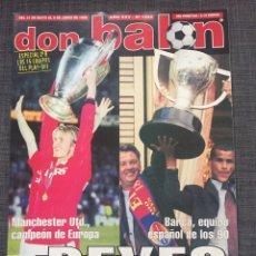 Coleccionismo deportivo: DON BALÓN 1233 - MAN UNITED CAMPEÓN EUROPA CON PÓSTER - BARCELONA - ANTIC - MORIENTES - MARADONA. Lote 137108317