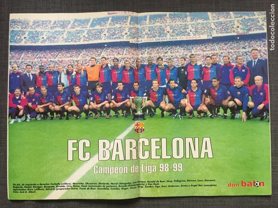 Coleccionismo deportivo: Don balón 1236 - Póster Barça campeón liga - Final copa Atlético vs Valencia - Gabri - Numancia - Foto 2 - 137109402