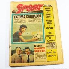 Coleccionismo deportivo: PERIODICO DEPORTIVO SPORT Nº 1, BARCELONA 3 NOVIEMBRE 1979, COMPLETO ESTA PLASTIFICADO, FUTBOL. Lote 137153266