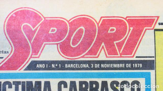 Coleccionismo deportivo: PERIODICO DEPORTIVO SPORT Nº 1, BARCELONA 3 NOVIEMBRE 1979, COMPLETO ESTA PLASTIFICADO, FUTBOL - Foto 5 - 137153266