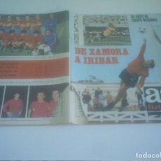 Coleccionismo deportivo: AS COLOR EXTRAORDINARIO DE ZAMORA A IRIBAR POSTER SELECCION CAMPEONA EUROPA. Lote 137170170