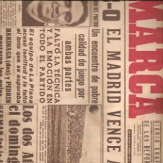 Coleccionismo deportivo: 3013. DIARIO MARCA 8.2.1944: MADRID + CASTELLON + SABADELL + SEVILLA + BARCELONA .... Lote 137234182