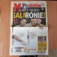 Coleccionismo deportivo: DIARIO MARCA REAL MADRID CAMPEON DE LIGA 02-03 - ALIRON 2002/2003 RONALDO - ATHLETIC - AFF. Lote 137297310