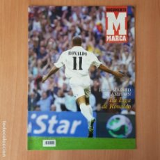Coleccionismo deportivo: REVISTA SUPLEMENTO ESPECIAL MARCA REAL MADRID CAMPEON DE LIGA 2002/2003 - RONALDO 02-03 - POSTER. Lote 137300250