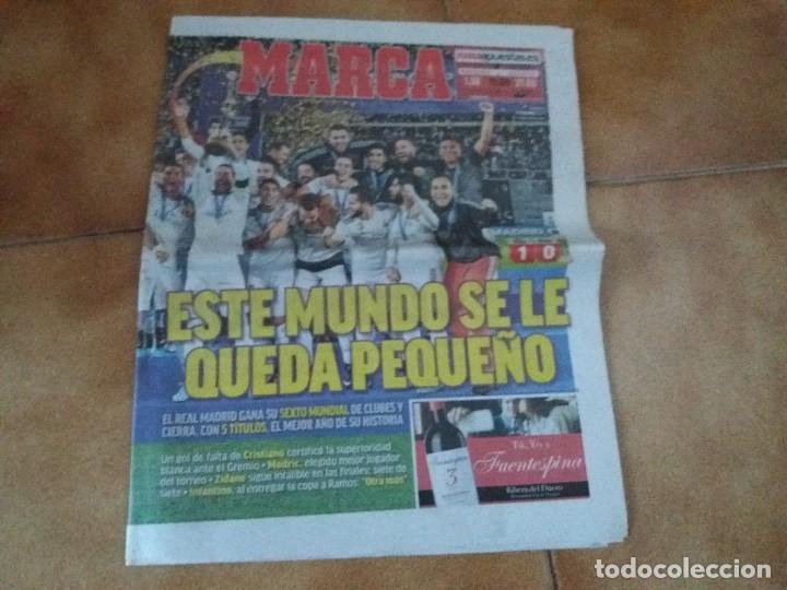 MARCA. REAL MADRID. MUNDIAL DE CLUBES. 17 DE DICIEMBRE DEL 2017. (Coleccionismo Deportivo - Revistas y Periódicos - Marca)