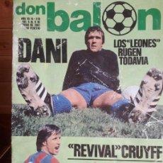 Coleccionismo deportivo: DON BALON Nº 278 1981 DANI ATHLETIC BILBAO ARTECHE ATLETICO MADRID ALINEACIONES BRASIL Y URUGUAY. Lote 137399178