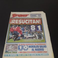 Coleccionismo deportivo: SPORT. N° 5.130. 20/02/1994. BARÇA,8 - OSASUNA,1. REAL MADRID AT MADRID. Lote 137425422