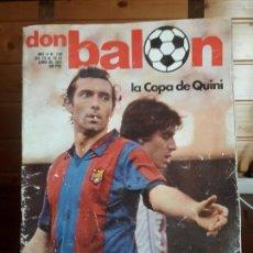 Coleccionismo deportivo: REVISTA DON BALON Nº 298 DEL 23 AL 29 JUNIO DE 1981 POSTER F.C.BARCELONA CAMPEON 80-81. Lote 137465410