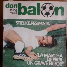 Coleccionismo deportivo: REVISTA DON BALON Nº 262 DEL 14 AL 20 DE OCTUBRE DE 1980 POSTER DE R.ZARAGOZA. Lote 137465754