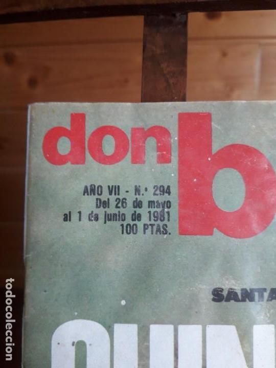 Coleccionismo deportivo: DON BALON 294 1 JUNIO 1981 QUINI VETADO JUANITO SHOW ALMERIA CABEZA ORELLUT POSTER ASCENSO CASTELLO - Foto 2 - 137466018