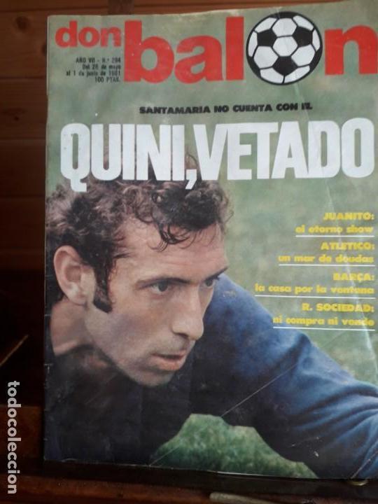 DON BALON 294 1 JUNIO 1981 QUINI VETADO JUANITO SHOW ALMERIA CABEZA ORELLUT POSTER ASCENSO CASTELLO (Coleccionismo Deportivo - Revistas y Periódicos - Don Balón)