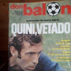 Coleccionismo deportivo: DON BALON 294 1 JUNIO 1981 QUINI VETADO JUANITO SHOW ALMERIA CABEZA ORELLUT POSTER ASCENSO CASTELLO. Lote 137466018