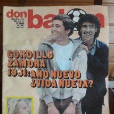 Coleccionismo deportivo: DON BALON 274 12 ENERO 1981 GORDILLO ZAMORA BOTA DE ORO RUMMENIGGE SCHUSTER POSTER REAL MADRID. Lote 137466094