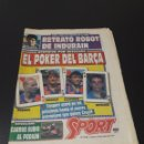 Coleccionismo deportivo: SPORT. N° 4.198. 22/07/1991. LAUDRUP KOEMAN STOICHKOV WITSCHGE BARÇA TÍTULO A TÍTULO COPA 51 - 52.. Lote 137479544