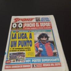 Coleccionismo deportivo: SPORT. N° 5.199. 1/05/1994. BALONMANO BARCELONA CAMPEON RECOPA LAUDRUP BARÇA RAYO UE LLEIDA BENITO. Lote 137739598