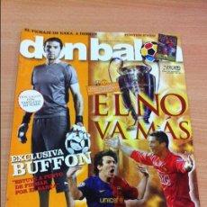Coleccionismo deportivo: REVISTA DON BALÓN Nº 1753 - MAYO 2009 - BARCELONA VS MANCHESTER UNITED - BUFFON. Lote 137823402