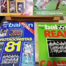 Coleccionismo deportivo: DON BALON ABRIL 1981. REAL SOCIEDAD CAMPEÓN. Lote 137842474