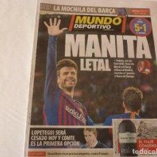 Colecionismo desportivo: MUNDO DEPORTIVO(29-10-18) !!!BARÇA 5 R.MADRID 1 !!!! SIN MESSI Y CON UN SUAREZ GOLEADOR!!!!. Lote 138003266