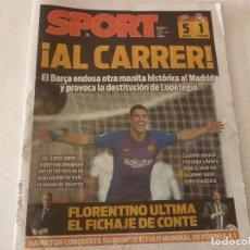 Collezionismo sportivo: SPORT(29-10-18) !!!BARÇA 5 R.MADRID 1 !!!! SIN MESSI Y CON UN SUAREZ GOLEADOR!!!! . Lote 138003706