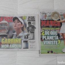 Coleccionismo deportivo: LOTE DIARIO MARCA. GARBIÑE MUGURUZA GANA SU PRIMER ROLAND GARROS Y WIMBLENDON (2016, 2017). Lote 93233470