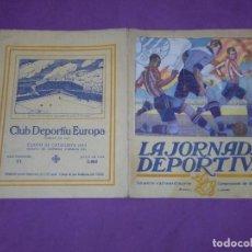 Coleccionismo deportivo: ATHLETIC CLUB BILBAO - EUROPA LA JORNADA DEPORTIVA - NUMERO EXTRAORDINARIO CAMPEONATO DE ESPAÑA 1923. Lote 138684678