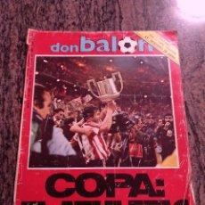 Coleccionismo deportivo: DON BALON 448. MAYO 1984. COPA:EL ATHLETIC. COMPLETA. LEER DESCRIPCION.. Lote 138706466