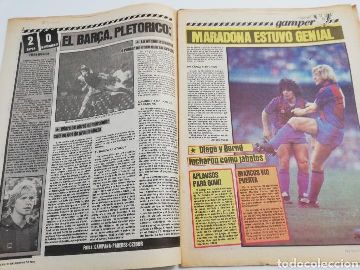 Coleccionismo deportivo: DIARIO SPORT FC BARCELONA NOTTINGHAM FOREST TROFEO JOAN GAMPER 24 AGOSTO 1983, MARADONA BARÇA 83 - Foto 2 - 138768144