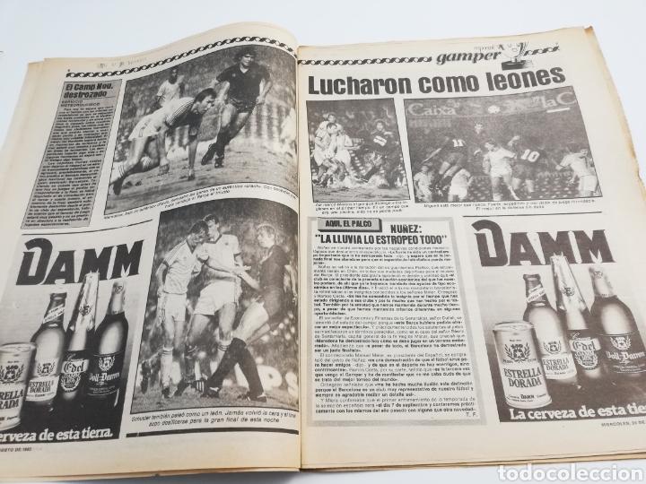 Coleccionismo deportivo: DIARIO SPORT FC BARCELONA NOTTINGHAM FOREST TROFEO JOAN GAMPER 24 AGOSTO 1983, MARADONA BARÇA 83 - Foto 3 - 138768144