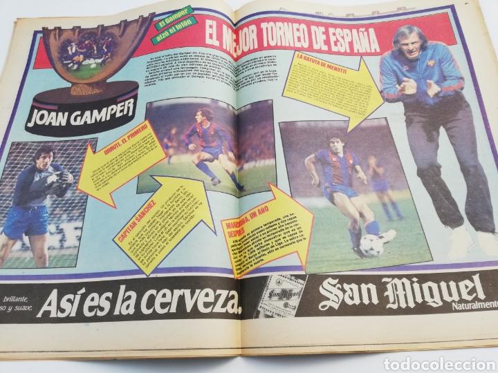 Coleccionismo deportivo: DIARIO SPORT FC BARCELONA NOTTINGHAM FOREST TROFEO JOAN GAMPER 24 AGOSTO 1983, MARADONA BARÇA 83 - Foto 4 - 138768144