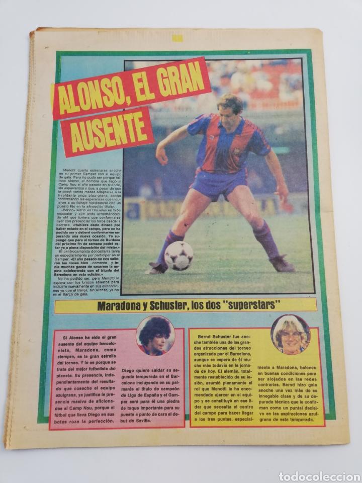 Coleccionismo deportivo: DIARIO SPORT FC BARCELONA NOTTINGHAM FOREST TROFEO JOAN GAMPER 24 AGOSTO 1983, MARADONA BARÇA 83 - Foto 5 - 138768144
