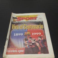Coleccionismo deportivo: SPORT. N° 6.859. 28/11/1998. F.C.BARCELONA CENTENARIO 1899/1999.. Lote 138778202